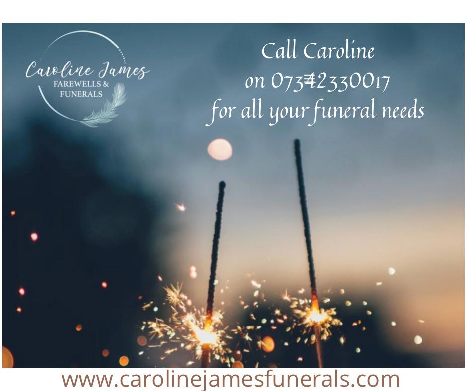 Caroline James Farewells & Funerals website home page