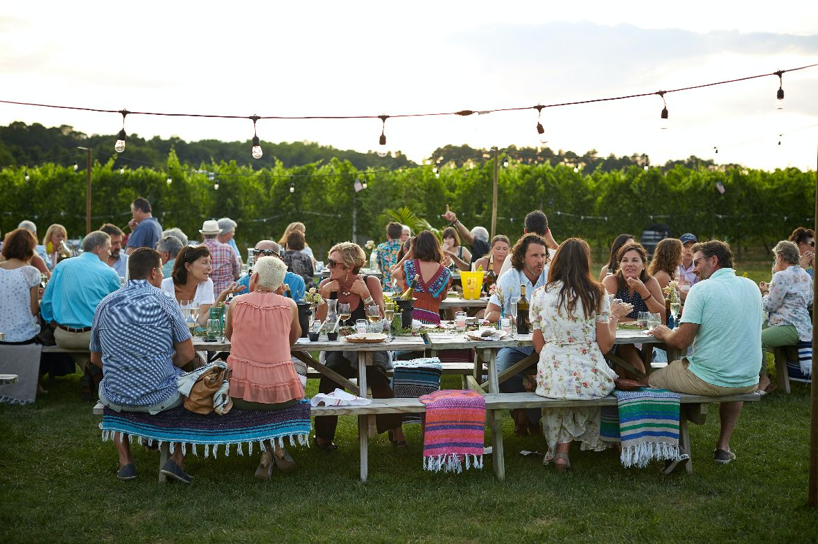 Celebration of life ceremony outdoors
