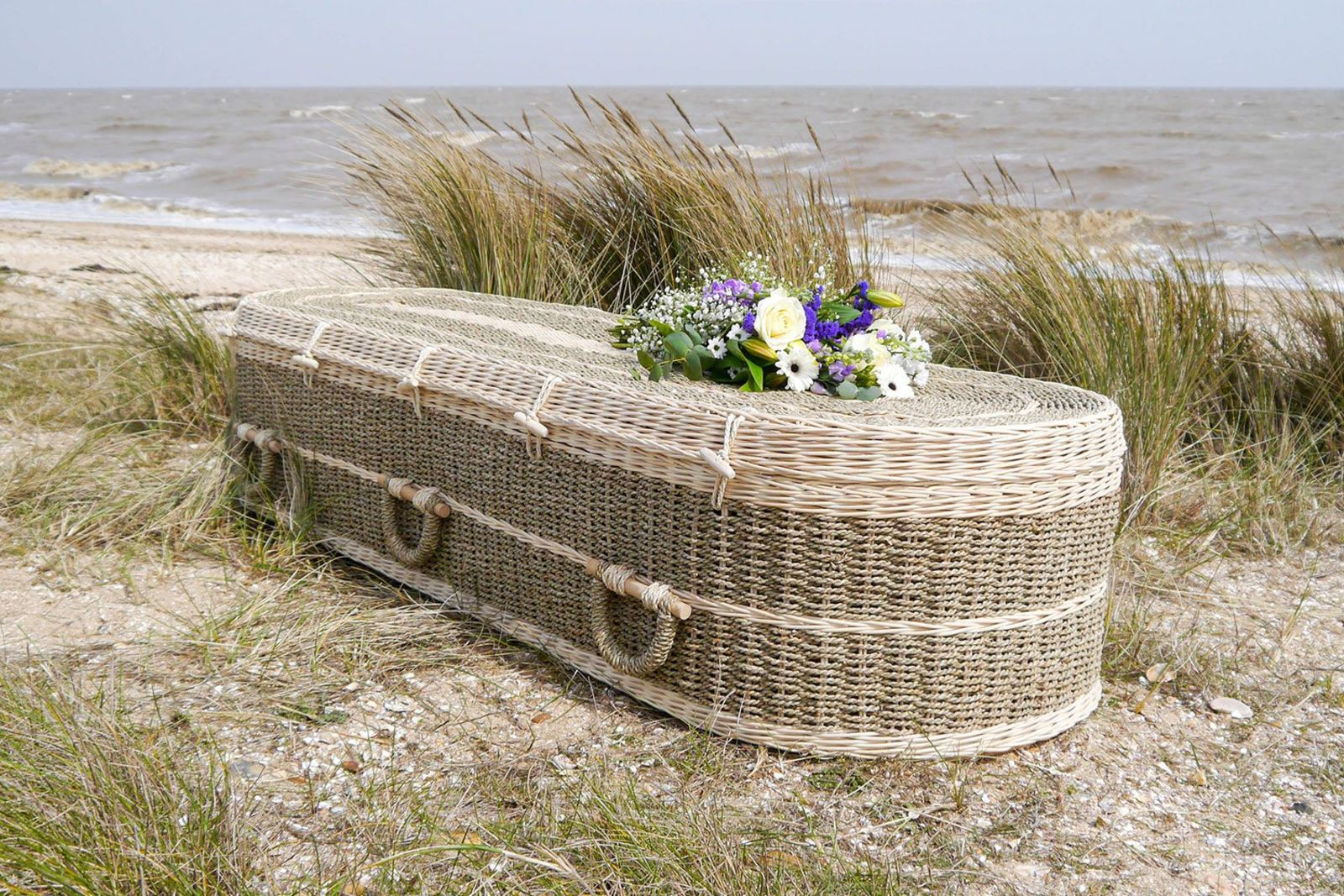 funeral flowers and eco caskets