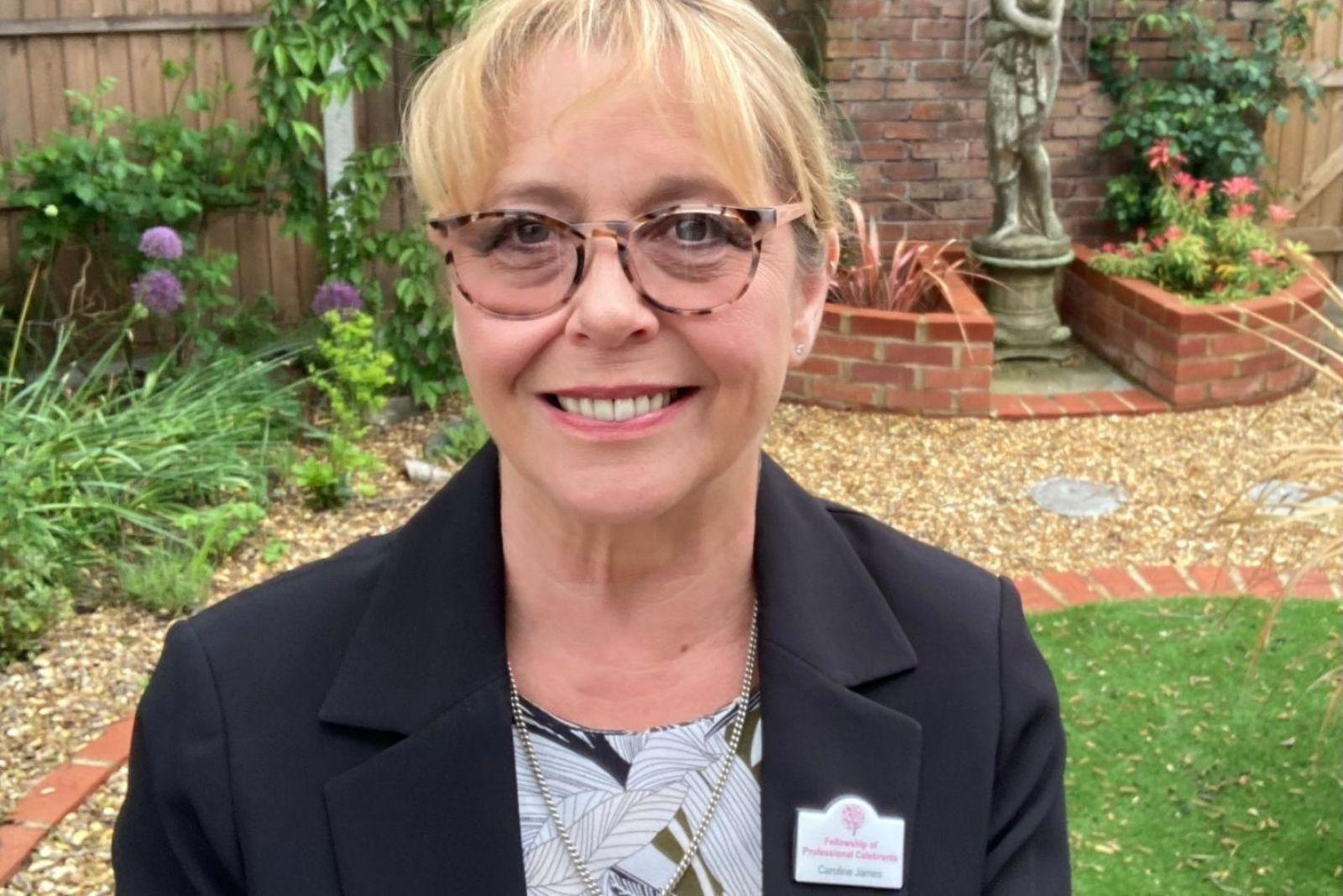 funeral celebrant Caroline James